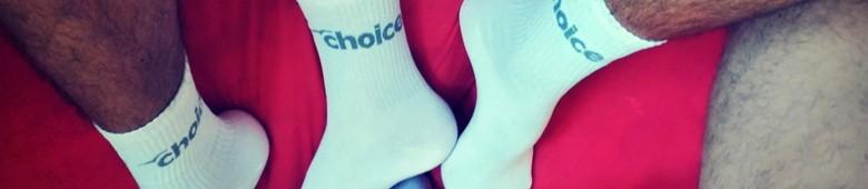 Skarpetki męskie białe, soxy - sklep Choice Underwear